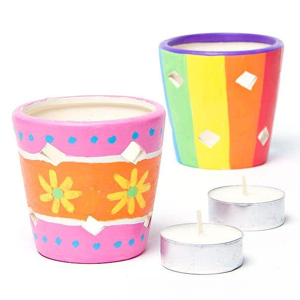 Stripy Candle Holders Free Craft Ideas Baker Ross