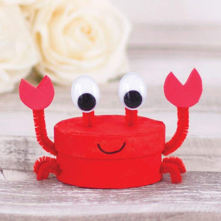 Crab Box Cutie Free Craft Ideas Baker Ross