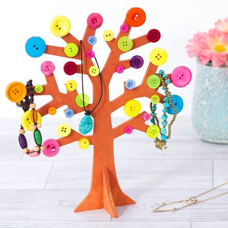 Button Jewellery Tree Free Craft Ideas Baker Ross