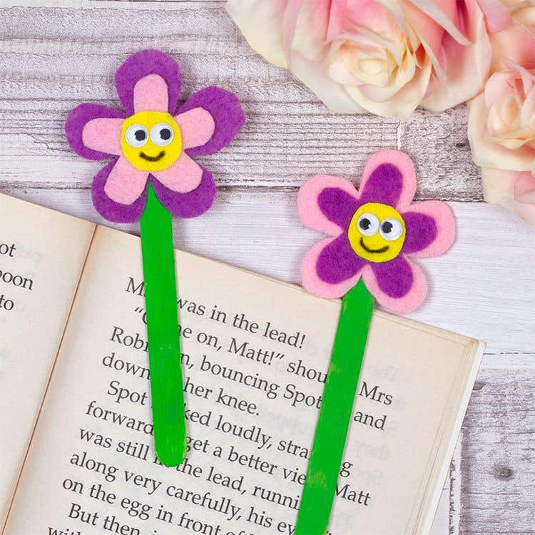 Flower Bookmarks Free Craft Ideas Baker Ross