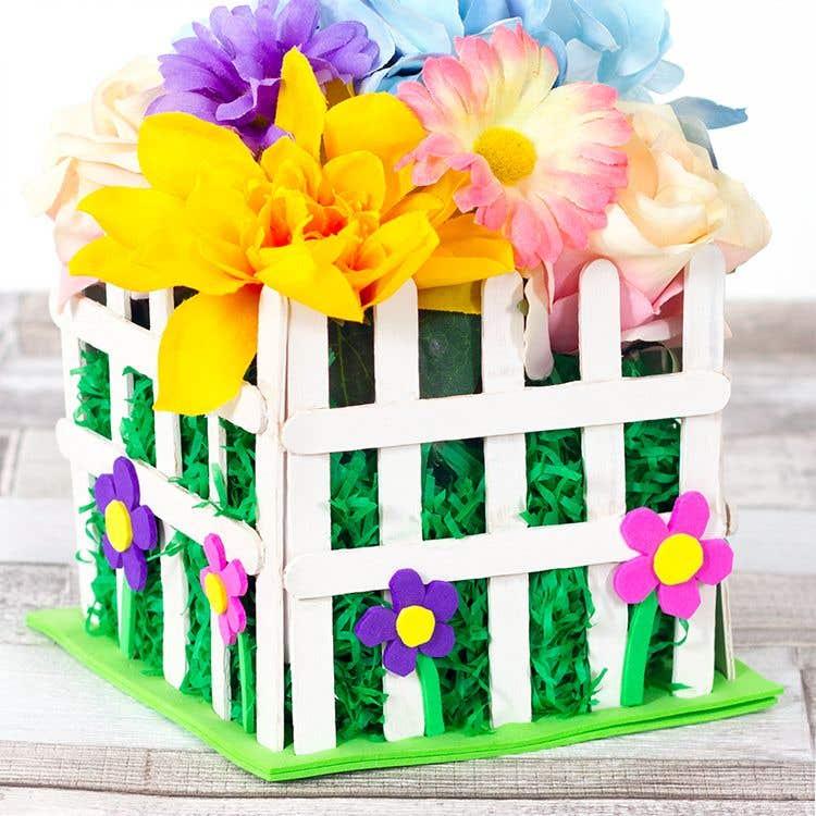 Picket Fence Flower Pot Free Craft Ideas Baker Ross