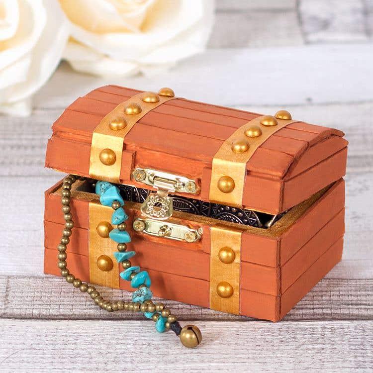 Treasure Chest Jewellery Box Free Craft Ideas Baker Ross