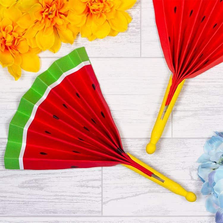 Watermelon Fan Free Craft Ideas Baker Ross