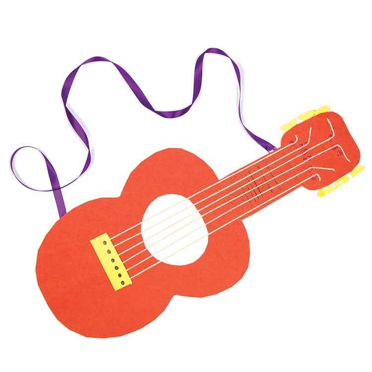 Instrument Guides Guitar Free Craft Ideas Baker Ross