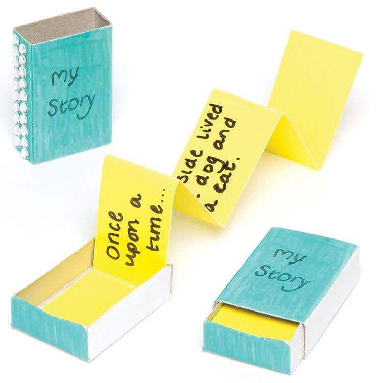 Mini Matchbox Book Free Craft Ideas Baker Ross