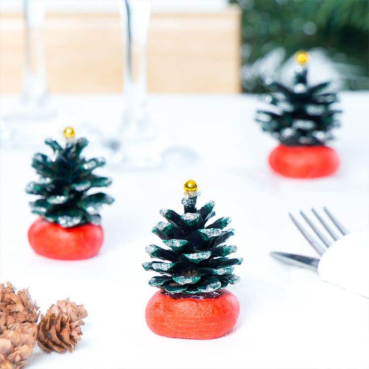 mini christmas tree table decorations free craft ideas baker ross - Mini Christmas Decorations