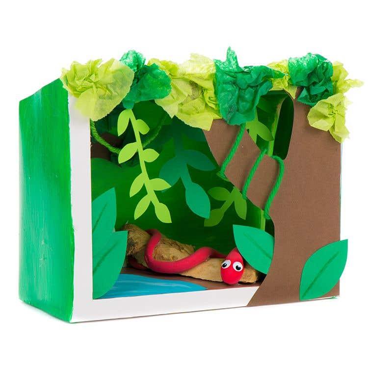 Make Your Own Diorama: How To Make A Jungle Diorama Box