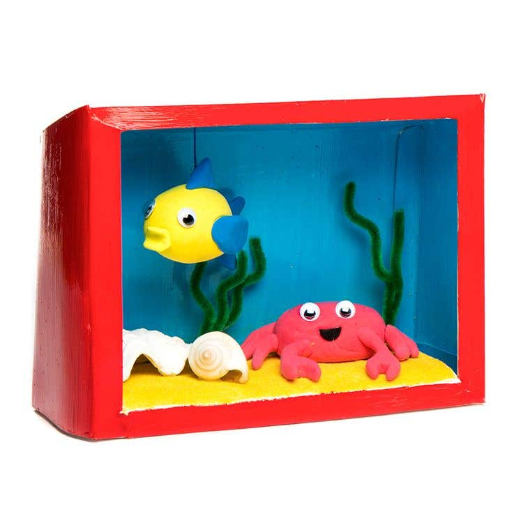 Miniature Children S Bedroom Room Box Diorama: How To Make A Aquarium Diorama Box
