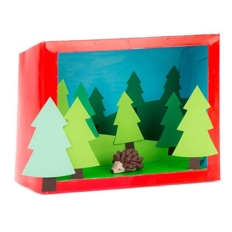 Make Your Own Diorama: How To Make A Woodland Diorama Box