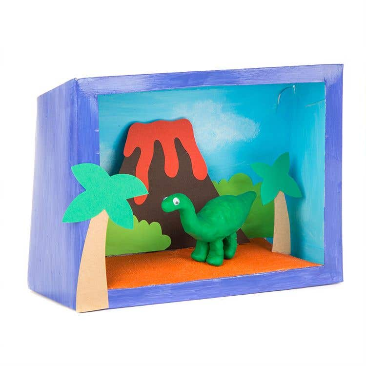 picture regarding Diorama Backgrounds Free Printable called How in direction of generate a Dinosaur Diorama Box Free of charge Craft Options
