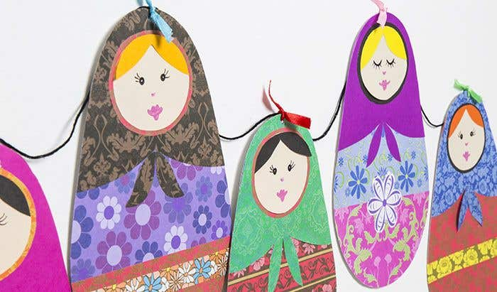Russian Doll Bunting Free Craft Ideas Baker Ross