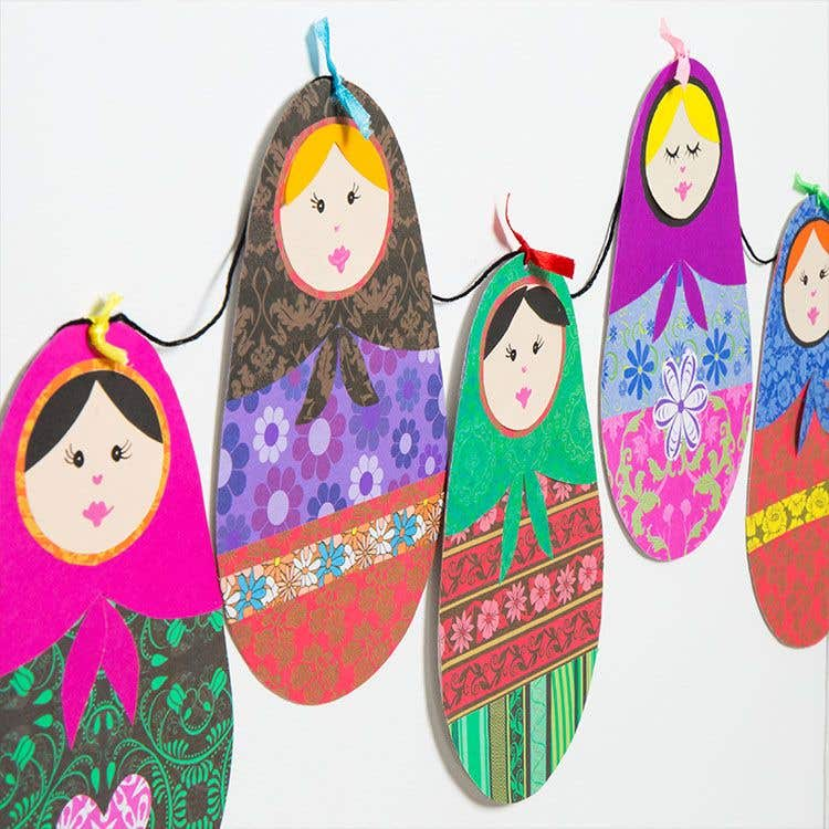 Russian Doll Bunting Free Craft Ideas Baker Ross