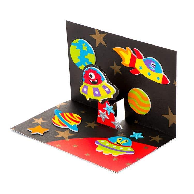 Pop Up Space Card Free Craft Ideas Baker Ross