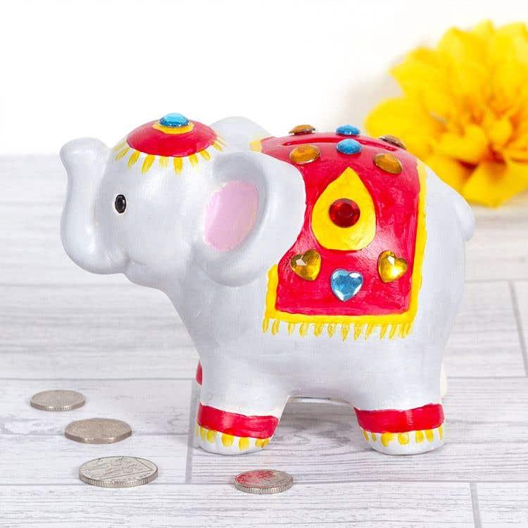 Diwali Elephant Coin Bank Free Craft Ideas Baker Ross