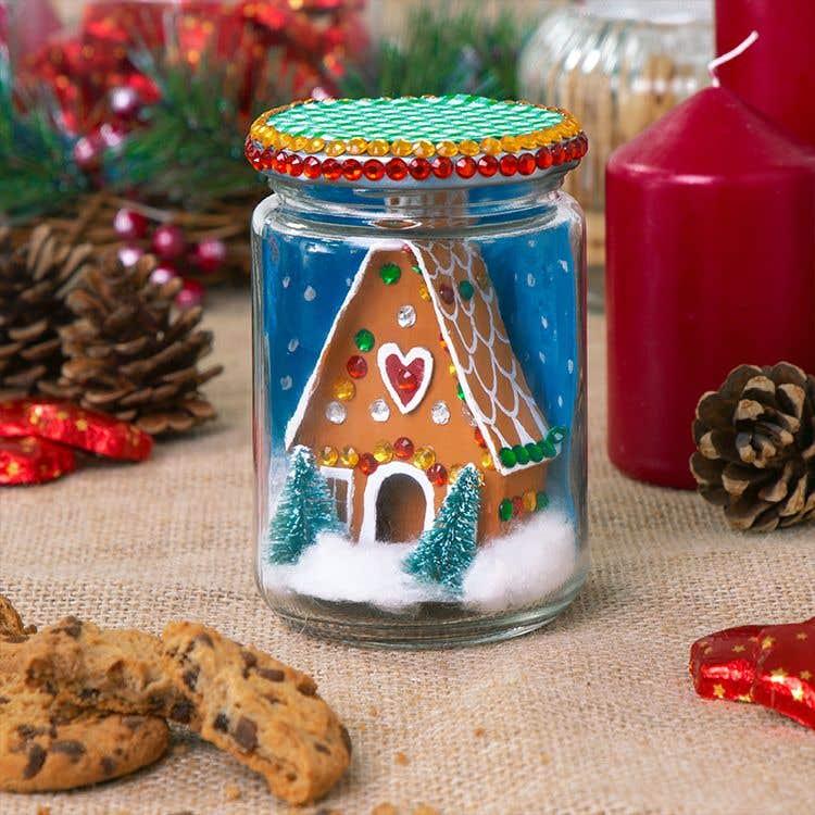Gingerbread House Jar Free Craft Ideas Baker Ross