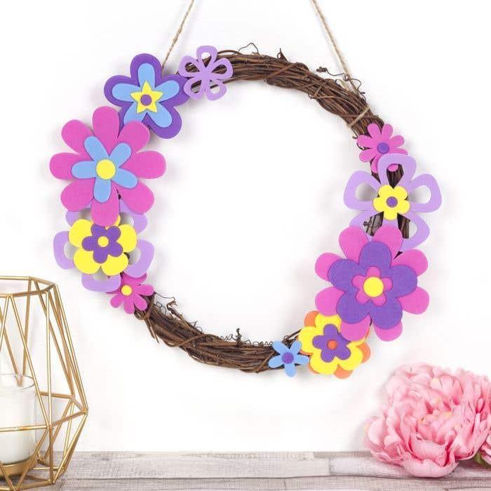 Spring Flower Wreath Free Craft Ideas Baker Ross