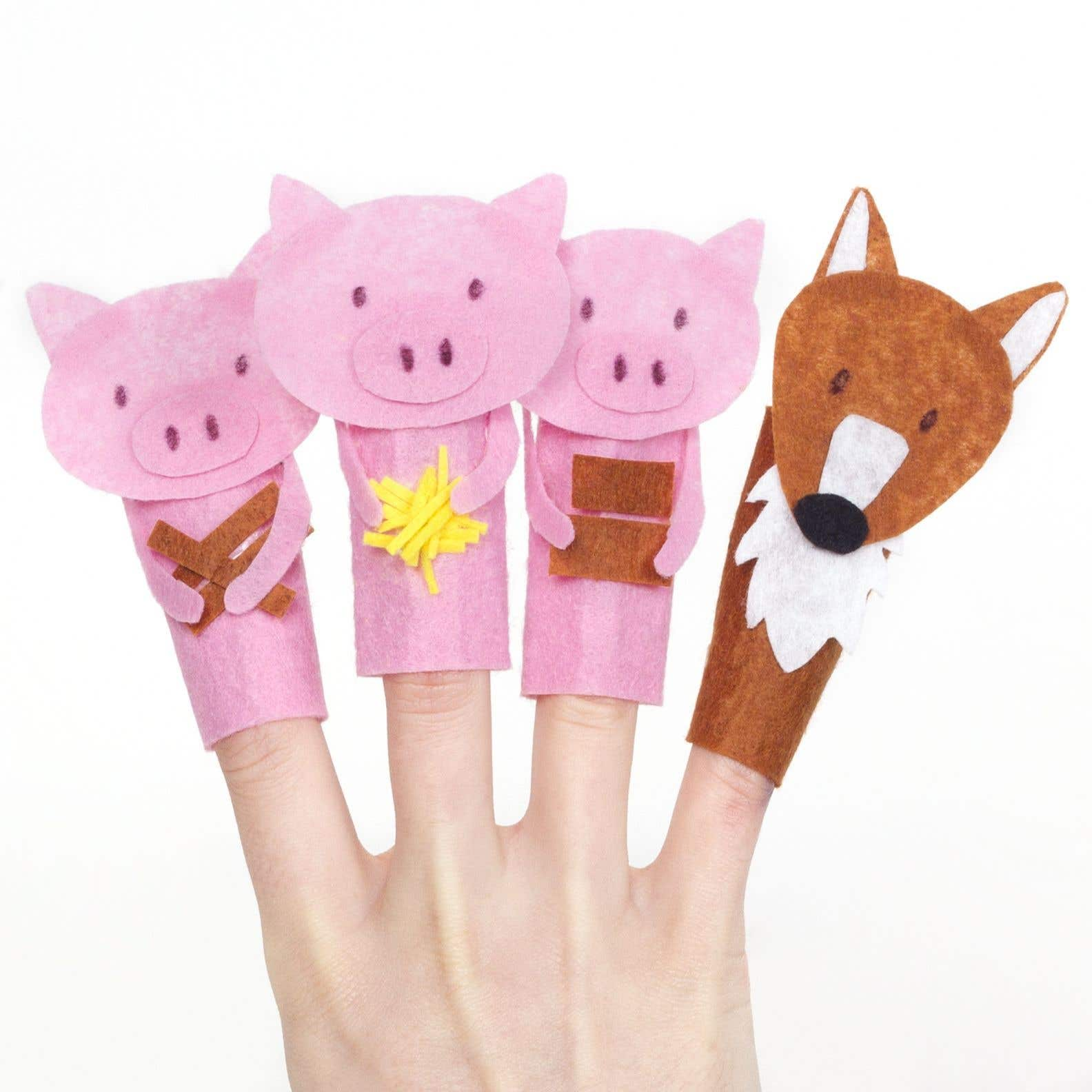 image about Free Hand Puppet Patterns Printable named A few Tiny Pigs Finger Puppets No cost Craft Strategies Baker Ross