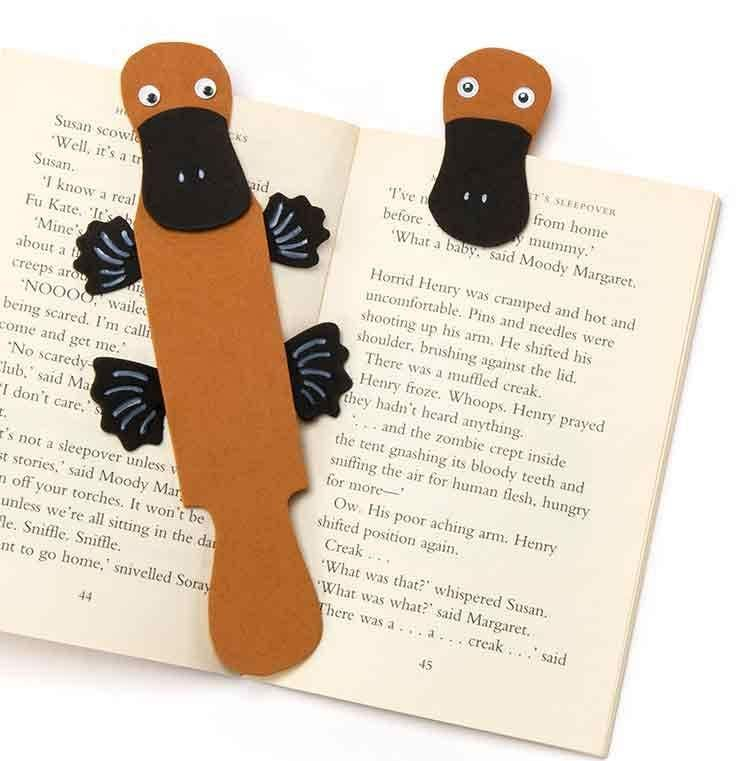 Duck bill platypus bookmark free craft ideas baker ross for Bookmark creator jar