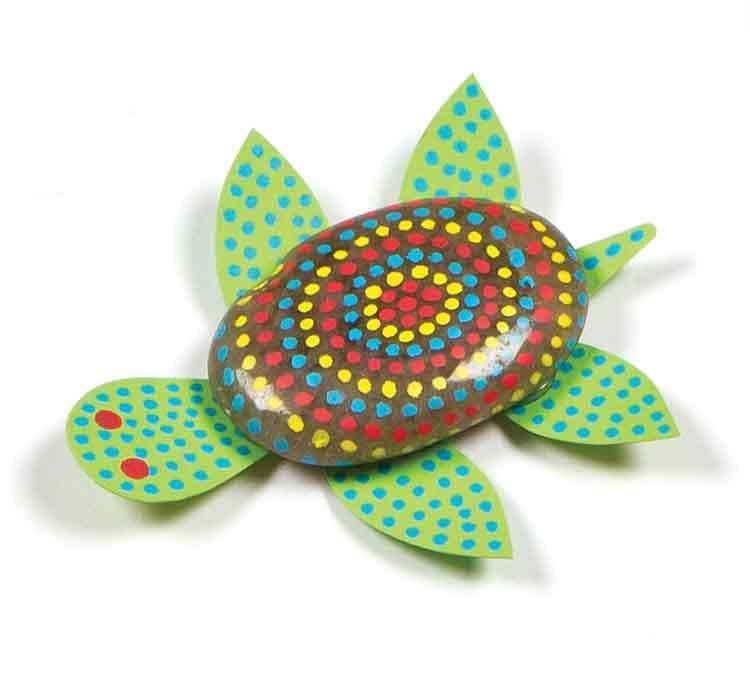 Aboriginal Stone Painting Free Craft Ideas Baker Ross