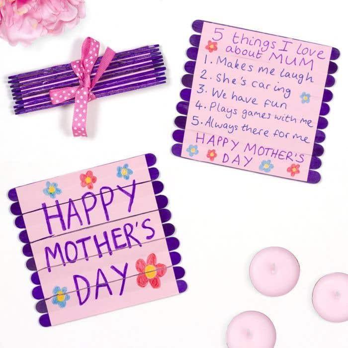 Mother's Day Folding Pop Stick Card