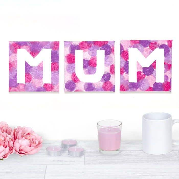 Mum Canvas Prints Free Craft Ideas Baker Ross