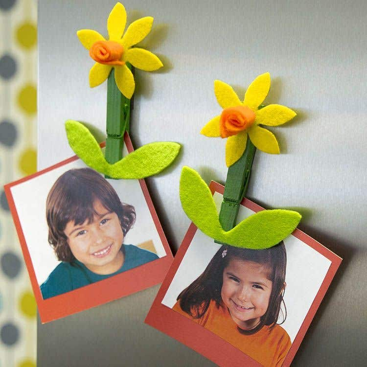 Daffodil Photo Magnet Free Craft Ideas Baker Ross