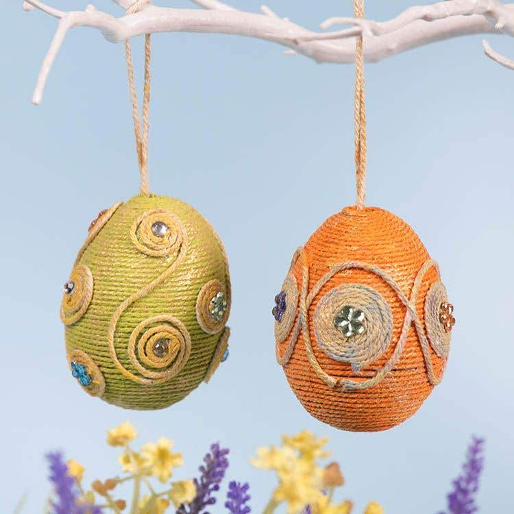 String Wrapped Easter Eggs Free Craft Ideas Baker Ross