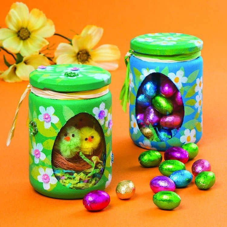 Easter Jars Free Craft Ideas Baker Ross
