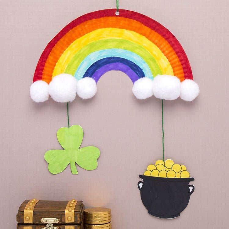 St Patricks Day Rainbow Mobile Free Craft Ideas Baker Ross