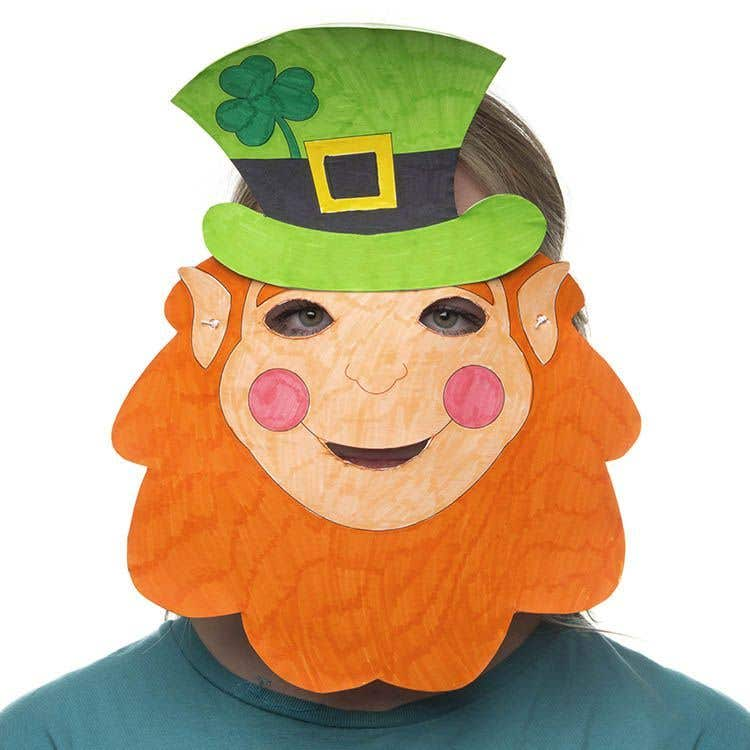 Leprechaun Mask | Free Craft Ideas | Baker Ross