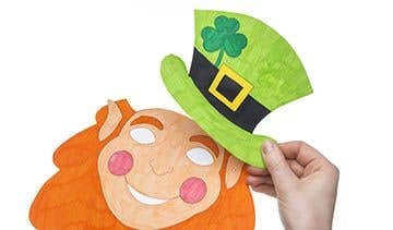 Leprechaun Mask Free Craft Ideas Baker Ross