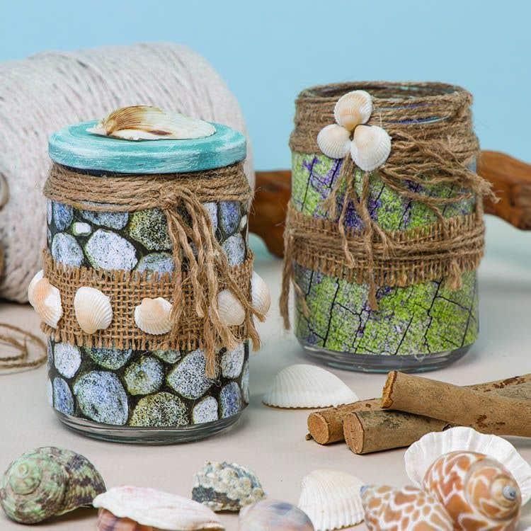 Seaside Jars Free Craft Ideas Baker Ross
