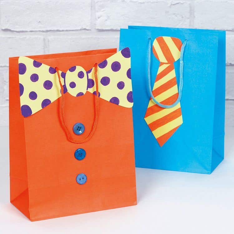 gift bag craft ideas funky tie gift bags free craft ideas baker ross 4545