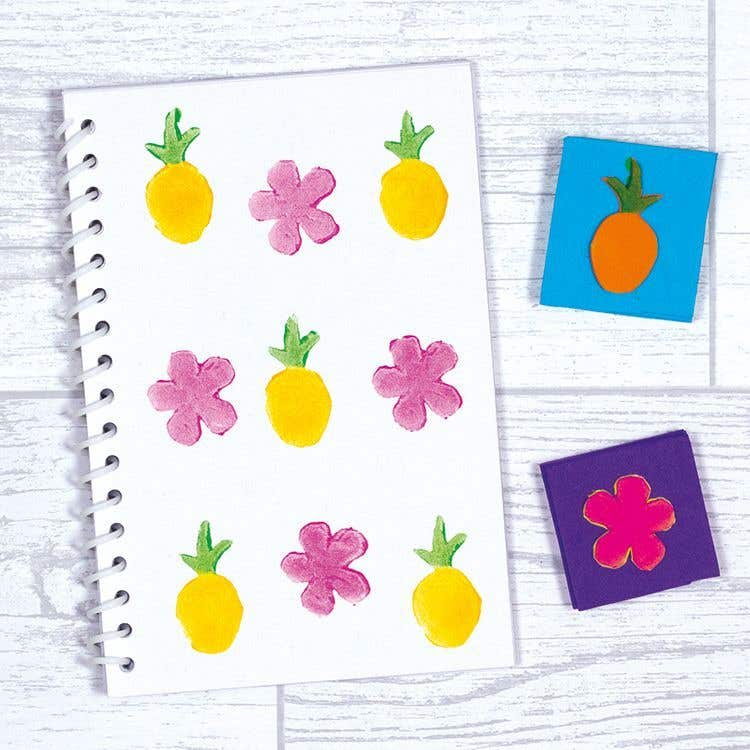 Tropical Stamped Notepad Free Craft Ideas Baker Ross