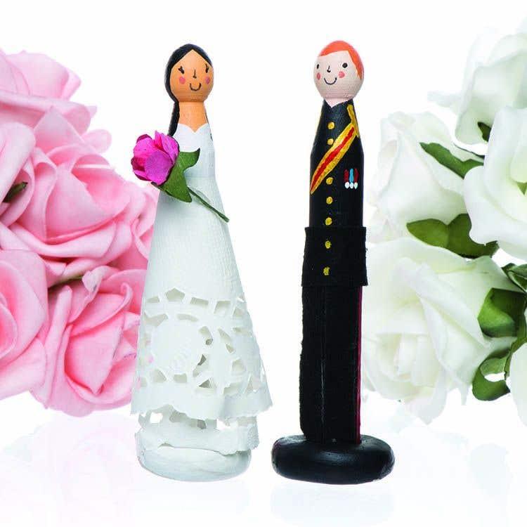 Bride And Groom Peg Dolls Free Craft Ideas Baker Ross