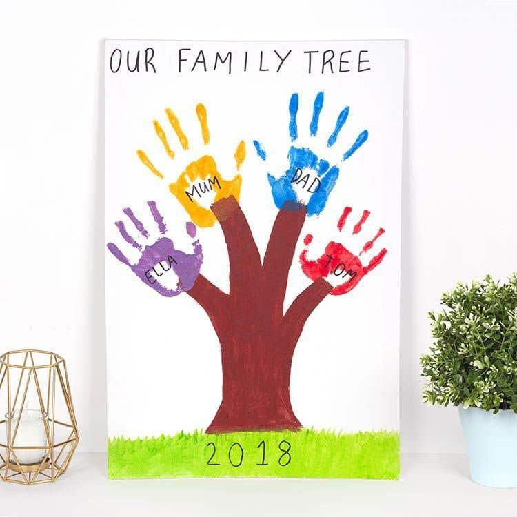 Family Handprint Tree Free Craft Ideas Baker Ross