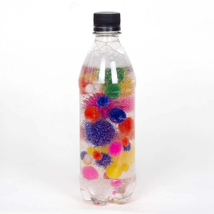 Pom Pom Sensory Bottles Free Craft Ideas Baker Ross
