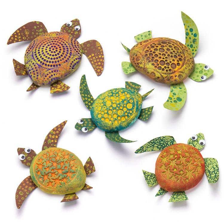 patterned sea turtles free craft ideas baker ross
