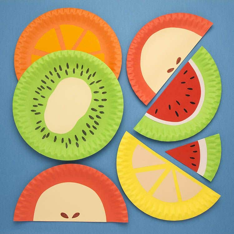 Paper Plate Fruits Free Craft Ideas Baker Ross