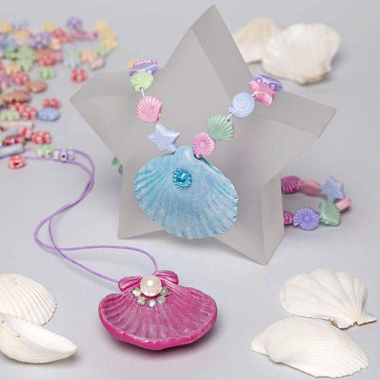 Mermaid Shell Necklace Free Craft Ideas Baker Ross