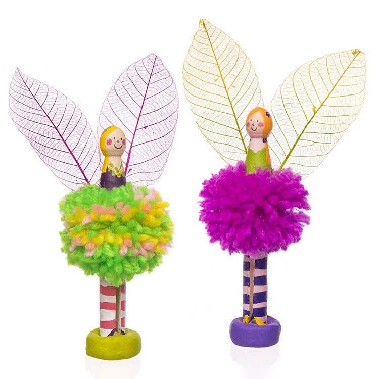 Pom Pom Peg Doll Fairy Free Craft Ideas Baker Ross