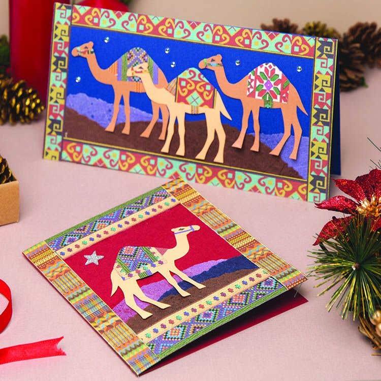 Christmas Camels Card Free Craft Ideas Baker Ross