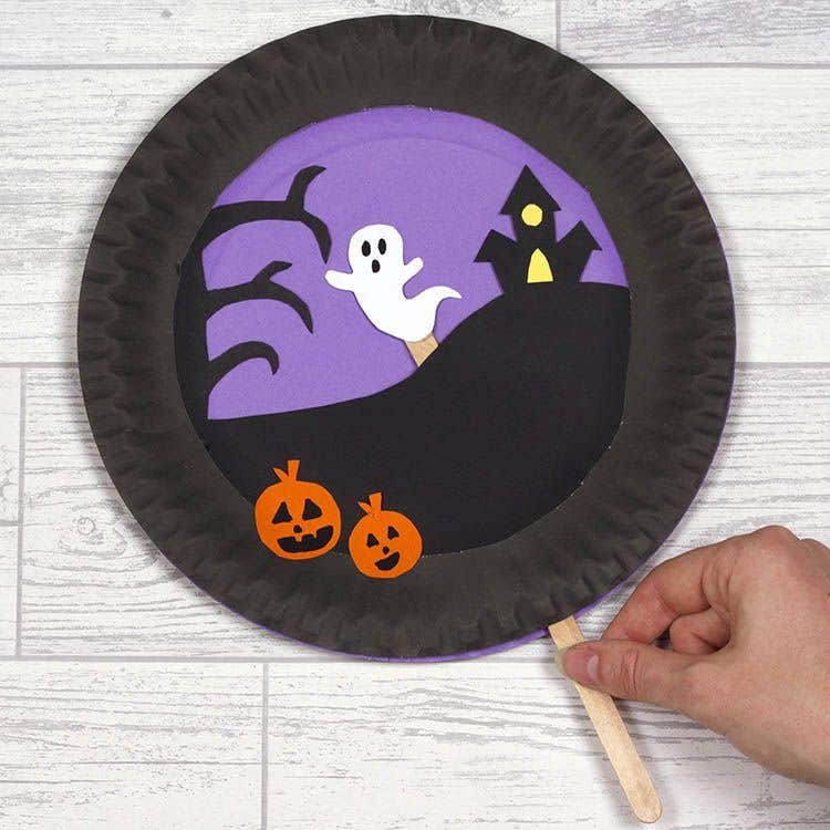 Spooky Paper Plate Scene Free Craft Ideas Baker Ross