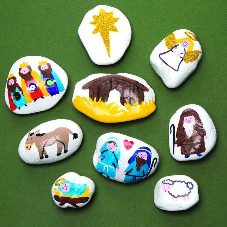 Nativity Story Stones Free Craft Ideas Baker Ross