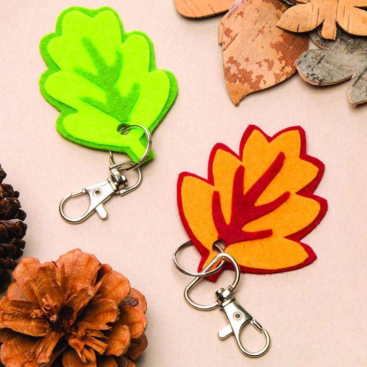 Felt Autumn Leaf Keyrings Free Craft Ideas Baker Ross