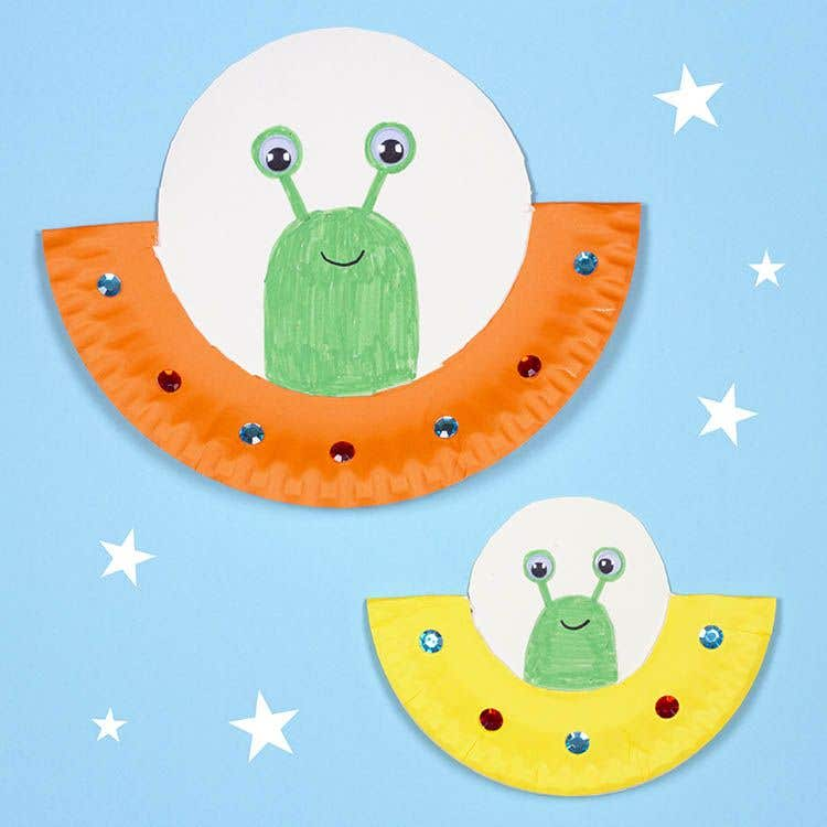 Paper Plate Spaceship Free Craft Ideas Baker Ross