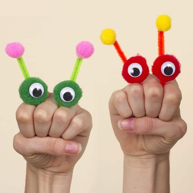 alien finger puppets free craft ideas baker ross