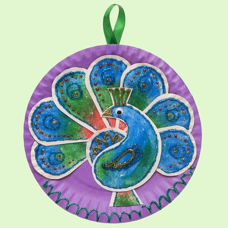 Diwali Peacock Free Craft Ideas Baker Ross