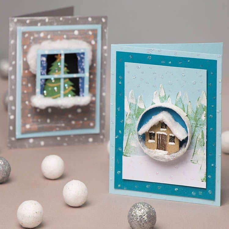 3d Christmas Window Cards Free Craft Ideas Baker Ross