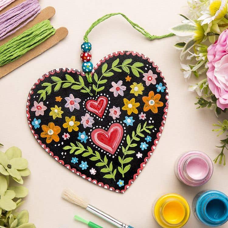 Folklore Floral Heart Free Craft Ideas Baker Ross